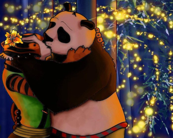 Amour entre po et maitre tigresse fleurderevee - Maitre kung fu panda ...