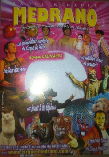 Programme cirque Médrano 2010 - 1