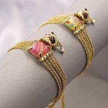 France Les Nereides Luxury Dog Colorful Gem Multilayer Bracelet Women Fashion Unique Party Jewelry