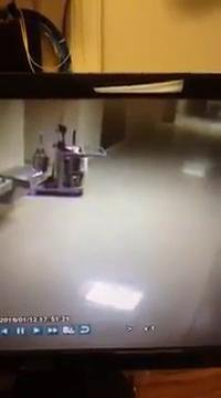 Ghost janitor gets to work