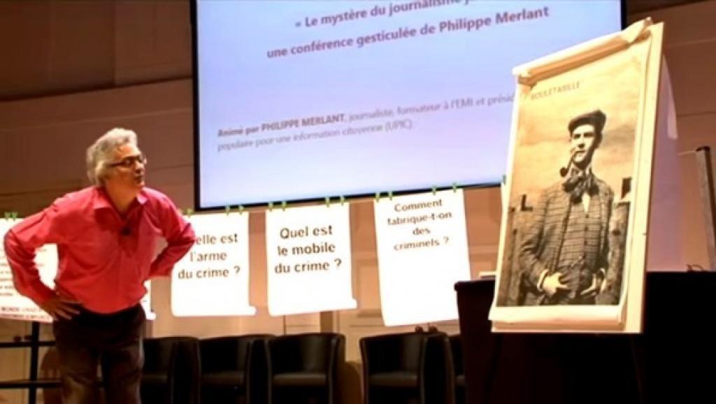 Laetitea et � Le Myst�re du journalisme jaune � de Philippe Merlant, sur RFI