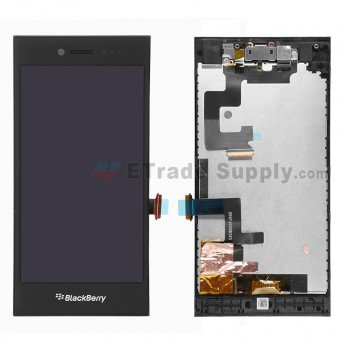 BlackBerry Leap LCD Assembly with Frame and Front Camera Black - ETrade Supply