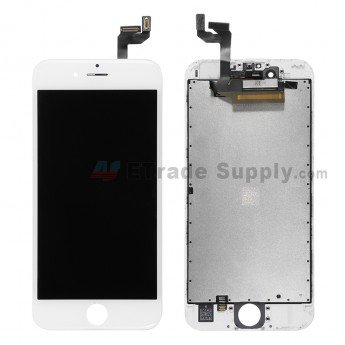 Apple iPhone 6S LCD Screen and Digitizer Assembly with Frame White - ETrade Supply