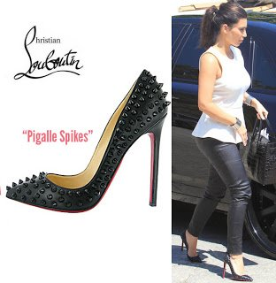 christian louboutin Pigalle Spikes pointed-toe pumps | The Little ...