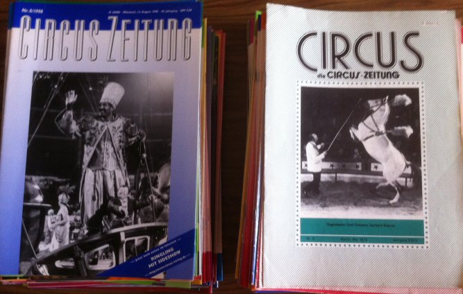 A vendre / On sale / Zu verkaufen / En venta / для продажи : Lot magazines CIRCUS ZEITUNG