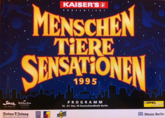 A vendre / On sale / Zu verkaufen / En venta / для продажи : Programme MENSCHEN TIEREN SENSATIONEN 1995