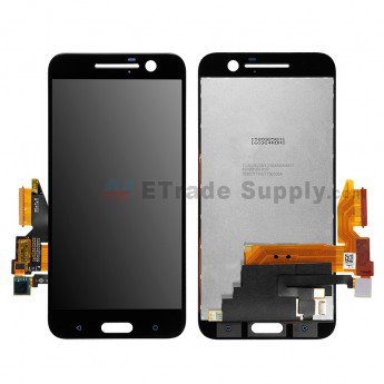 For HTC 10 LCD Screen and Digitizer Assembly Replacement Black - ETrade Supply