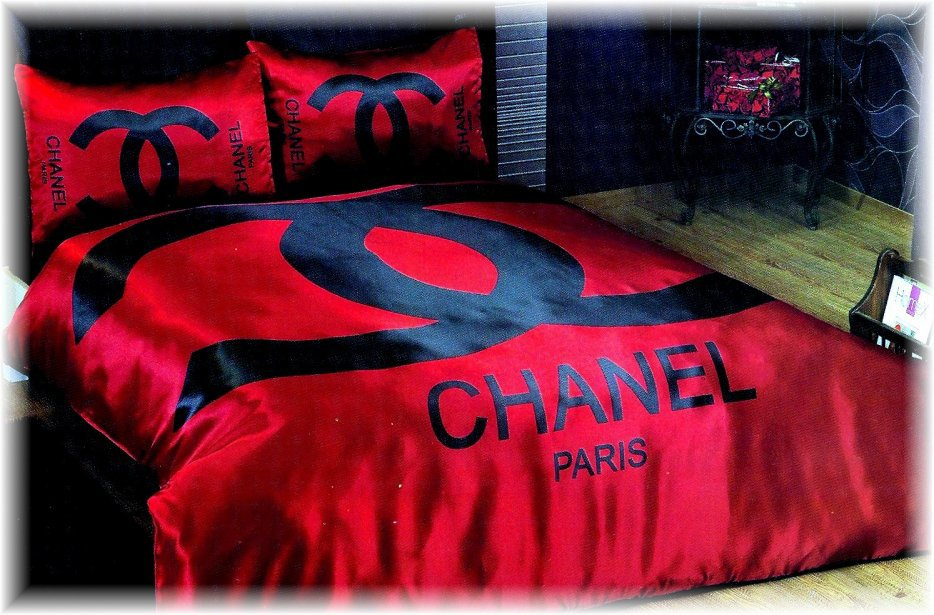 parure de lit chanel. Black Bedroom Furniture Sets. Home Design Ideas