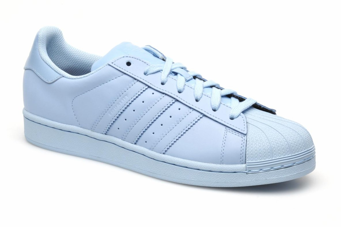 adidas originals superstar supercolor bleu baskets femme. Black Bedroom Furniture Sets. Home Design Ideas