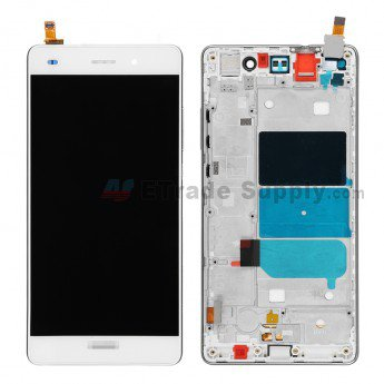 Huawei P8lite LCD Screen and Digitizer Assembly with Frame White - ETrade Supply