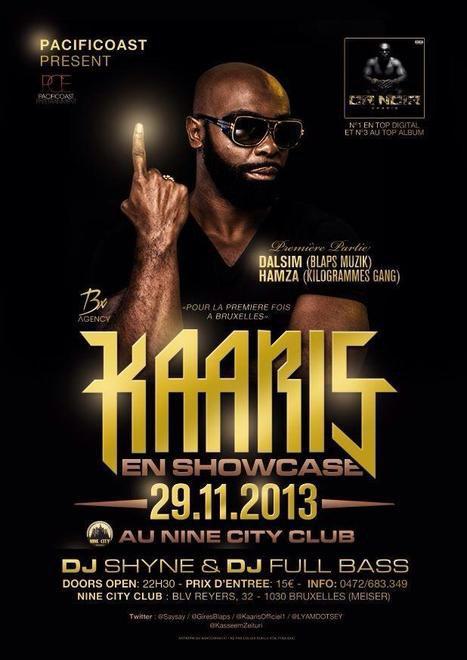 KAARIS sera à BRUXELLES le VENDREDI 29.11.13 !