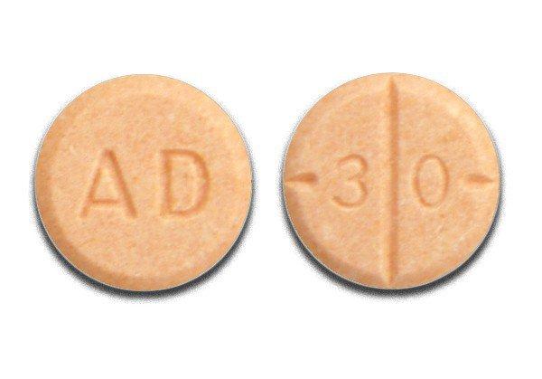 Adderall mg chart