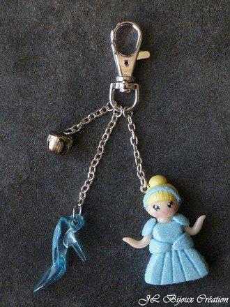 Bijoux de sac princesse en fimo