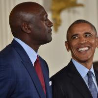 Barack Obama fait pleurer Michael Jordan - Basket