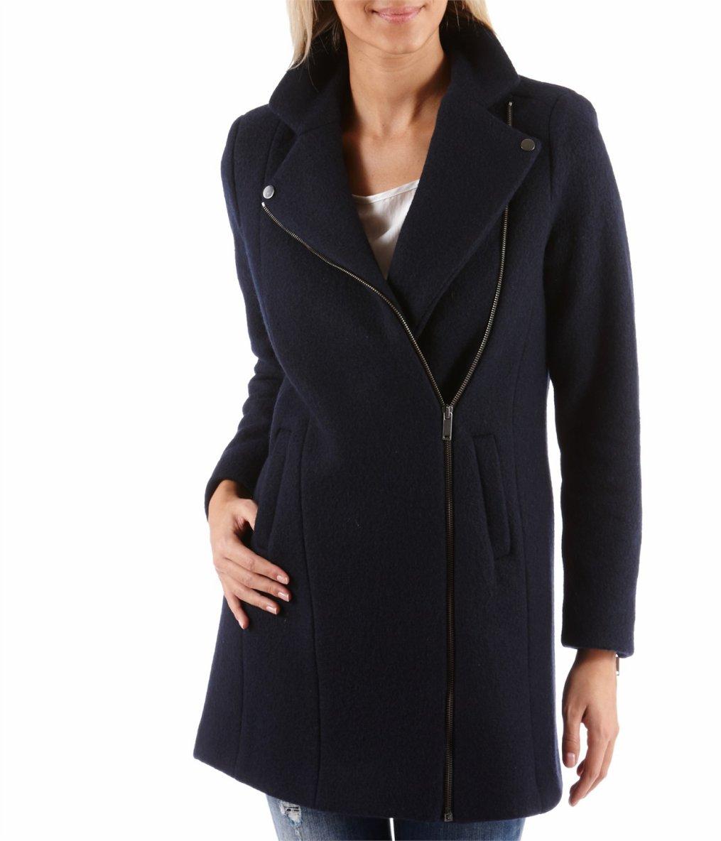 duffle coat capuche fausse fourrure lou gris perle etam tendance mode femme. Black Bedroom Furniture Sets. Home Design Ideas