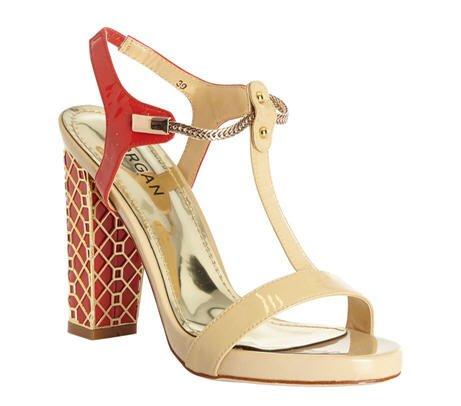 soldes sandales bicolores 100 cuir morgan tendance mode femme. Black Bedroom Furniture Sets. Home Design Ideas