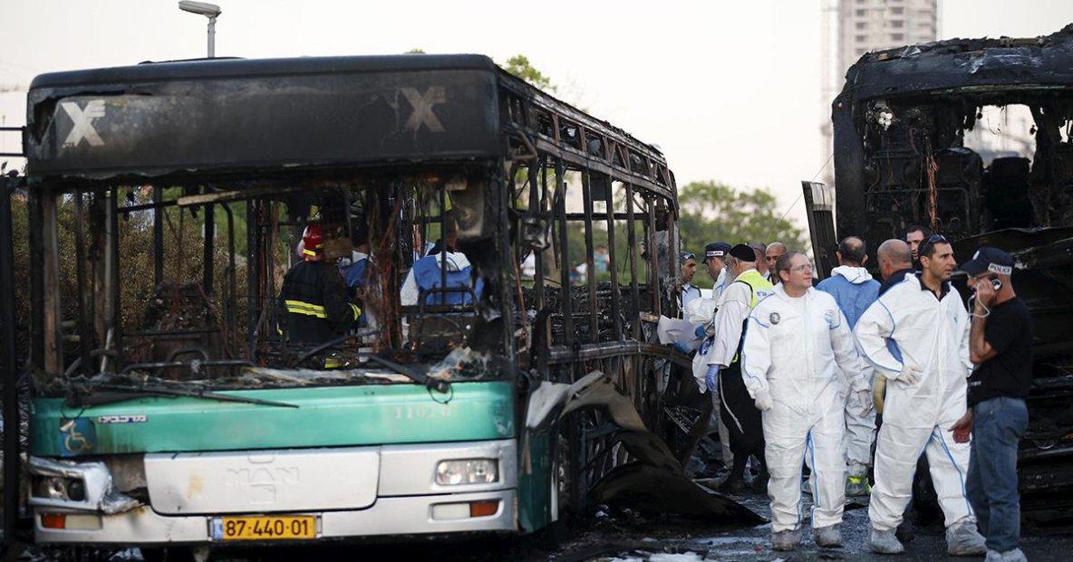 18-04-2016 - J�rusalem - Derech Hebron - Explosion d'un bus (bombe), 16 bless�s dans l'attaque � J�rusalem