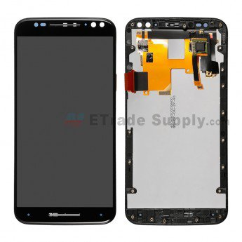 Motorola Moto X Style XT1575, XT1572 LCD Assembly with Frame Black - ETrade Supply