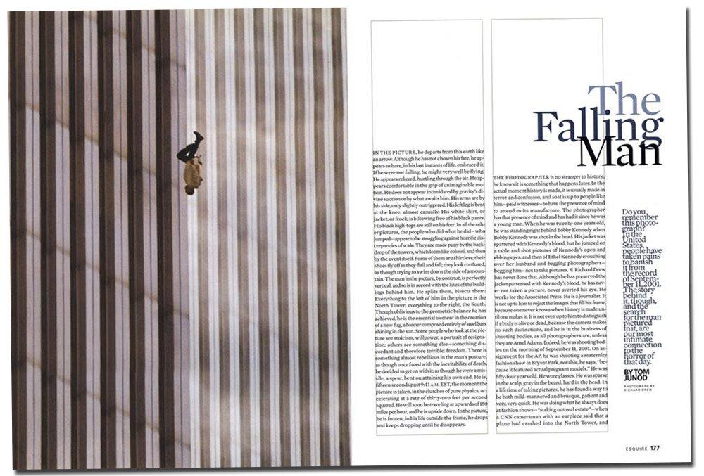 """L'histoire de la photo de """"L'homme qui tombe"""", iconique image du 11-Septembre"""