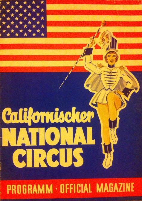 Programme CALIFORNISHER NATIONAL CIRCUS 1965