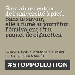 Une campagne «#Stoppollution» lancée par la mairie de Paris