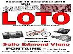 Annonce 'super loto samedi 10 décembre 2016 à 20H00'