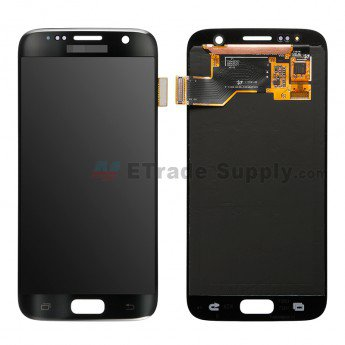 Samsung Galaxy S7 Series LCD Screen and Digitizer Assembly Black - ETrade Supply