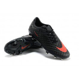 2013 chaussure de football Nike Hypervenom Phelon FG Charbon/Rouge/Noir - €95.00 :