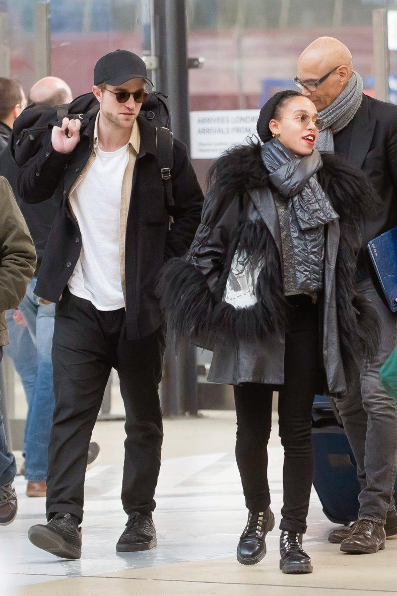 Robert et Tahliah � Paris le 4 mars 2015
