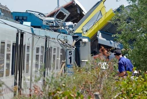 12-07-2016 - Italie - Ruvo di Puglia - Corato - ligne Bari Nord Grave accident de Trains - au moins 20 morts et des dizaines de bless�s dans une collision de trains dans les Pouilles