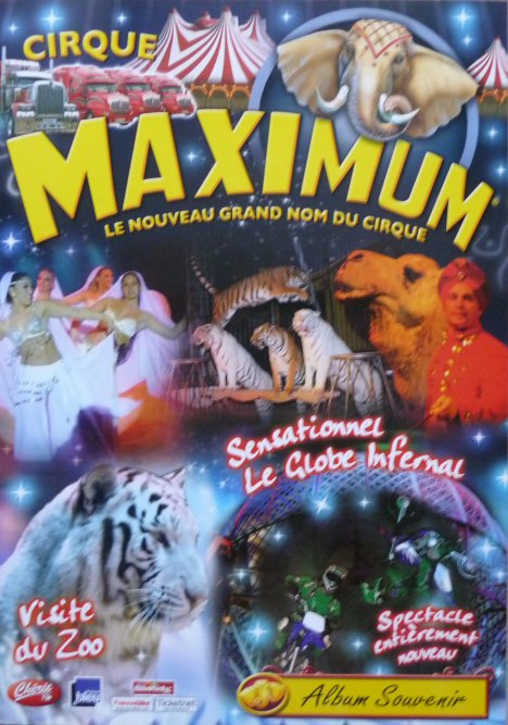 Programme Cirque MAXIMUM Klissing 2009