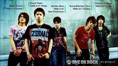 One  Ok Rock...super groupe de Rock Japonais ( L )