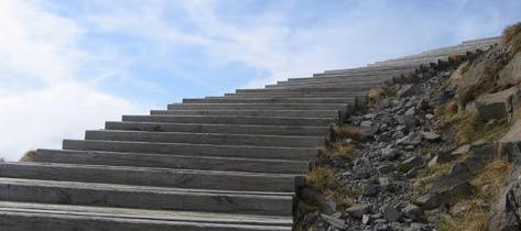 Escalier dans le Cantal Les volcans d'Auvergne