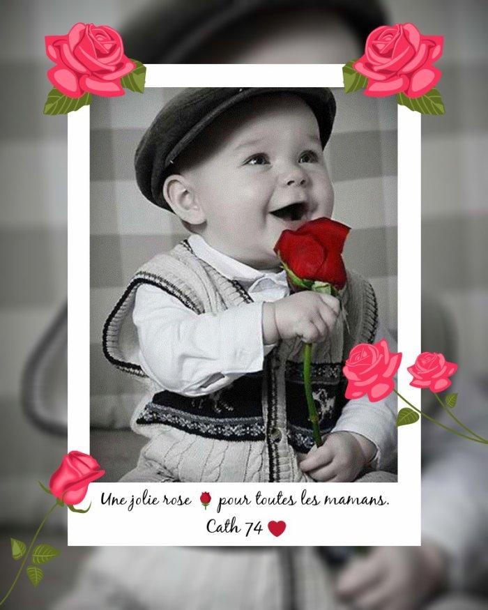 une rose pour les mamans!
