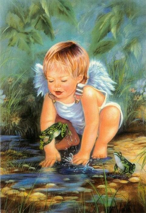 les petits anges aussi aiment s'amuser!