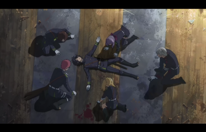 Ils sont tous rassemblés autour de Yuu