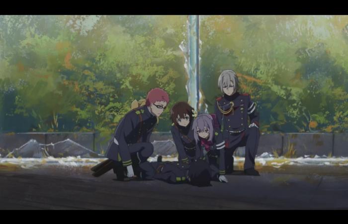 L'escouade de Shinoa+Shinya sont autour de Yuu à son réveil