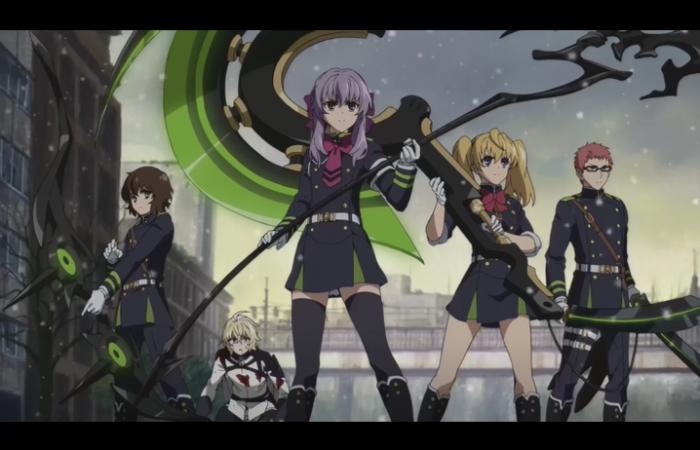 L'escouade de Shinoa en entier protège Mika