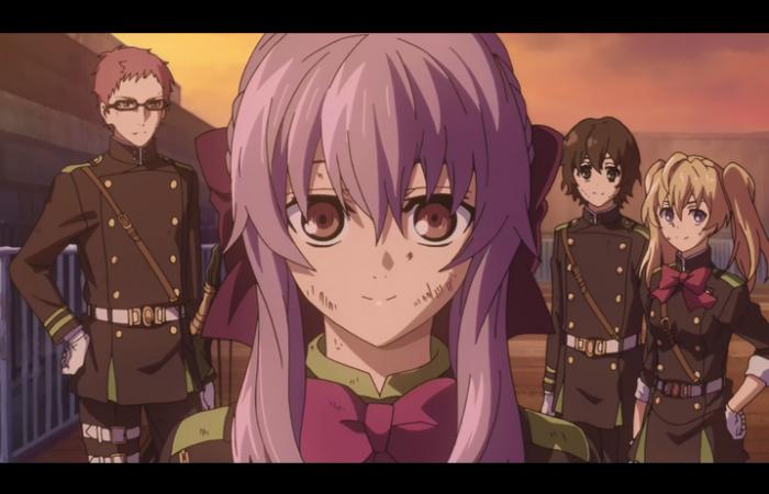 L'escouade de Shinoa (sans Yuu qui n'est pas encore arrivé)