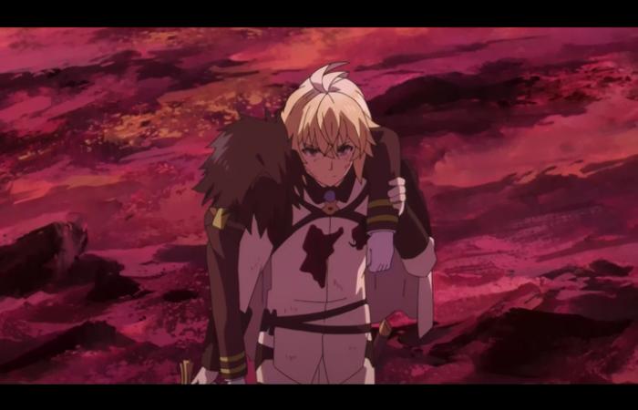 Mika soutient Yuu qui est blessé
