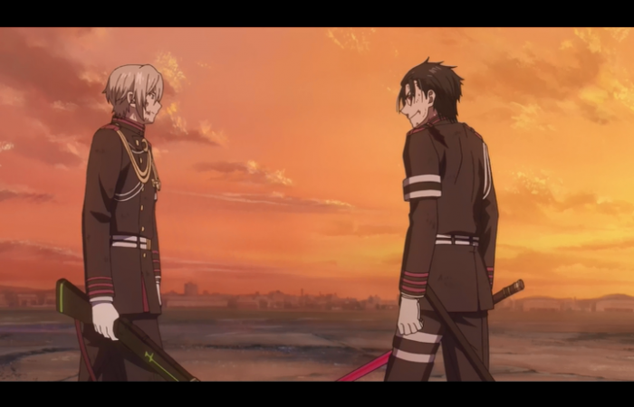 Shinya et Guren: Confrontation