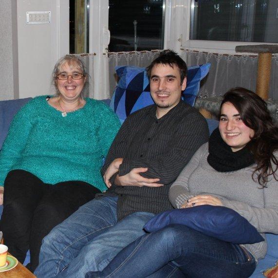 moi, mon second fils et ma fille