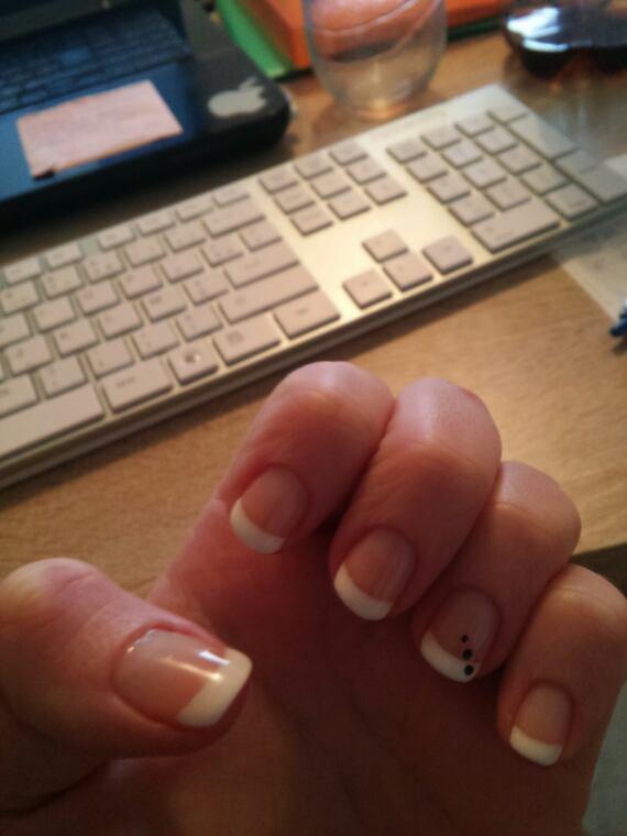 french manucure vernis semi-permanent sur ongles naturels