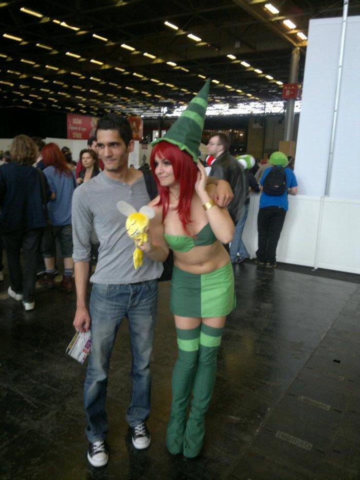 Japan Expo moi avec une belle cosplayeuse