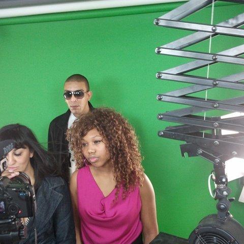 En mode tournage de clip :)