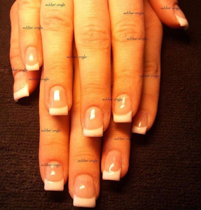 """pose complète gel french avec les produits """" all season nails """" ."""