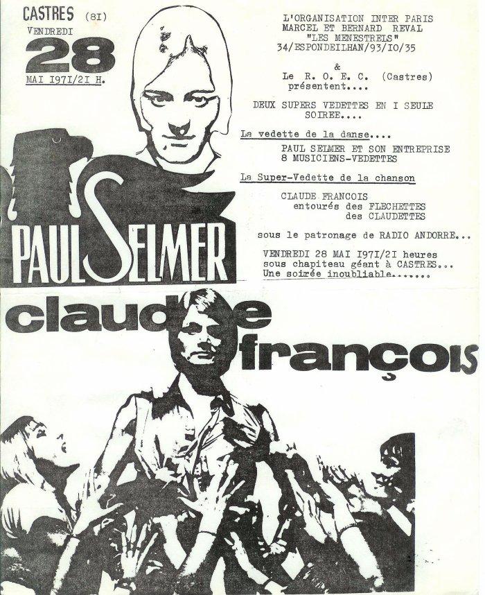 Paul selmer en 1ere partie de Claude François