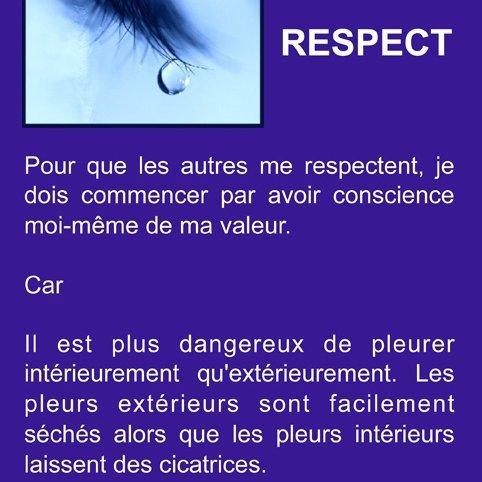 Le respect c'est sacré