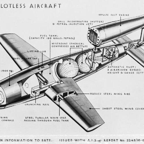 Schema d'un V1 flying bomb