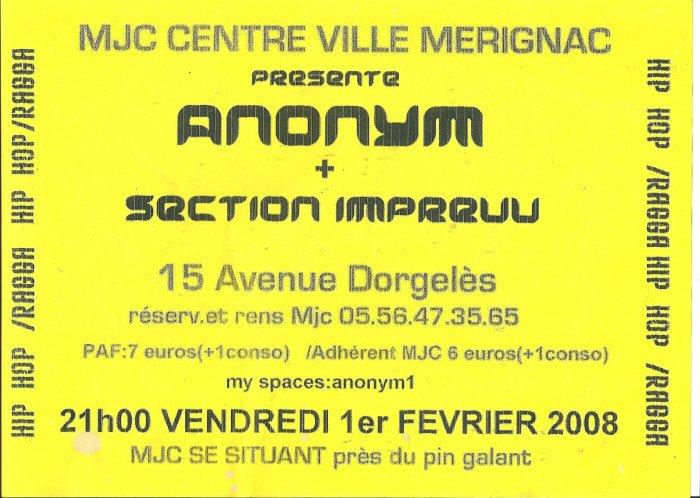 concert ANONYM a merignac mjc centre ville